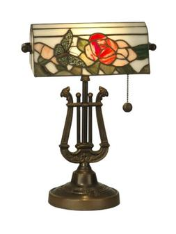 Dale Tiffany TT90186 Broadview Table Lamp, Antique Bronze an