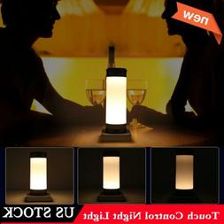 USB LED Night Light Touch & Dimmer Control Table Desk Lamp f