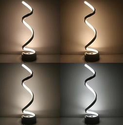 Vertical Spiral Dimmable LED Table Lamp, Curved LED Desk Lam